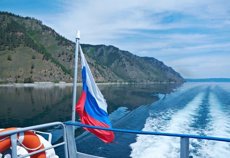 一个游船的回流 免版税库存图片