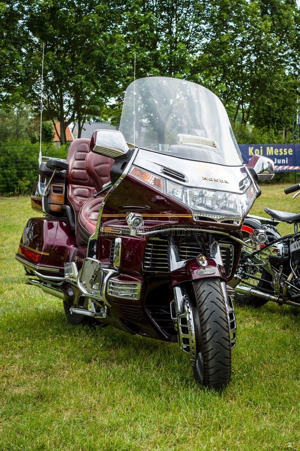 一个游览的摩托车本田金翼GL1500 免版税图库摄影