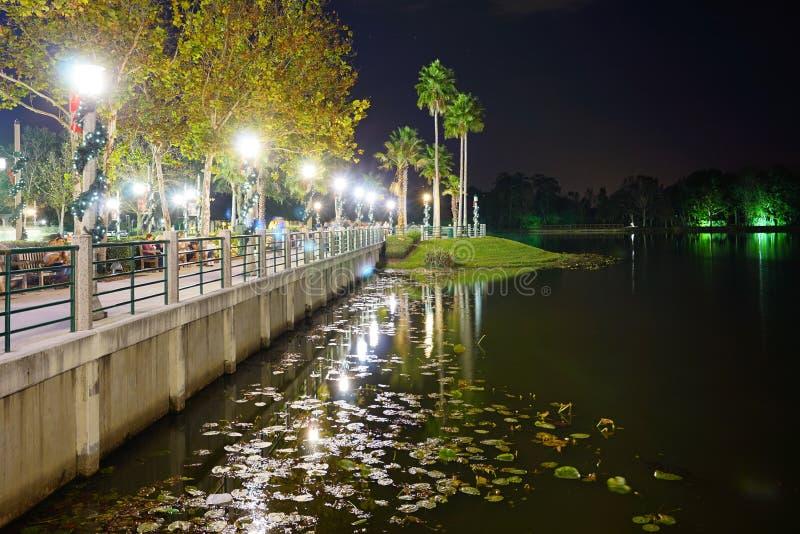 一个湖在Kissimmee 库存图片