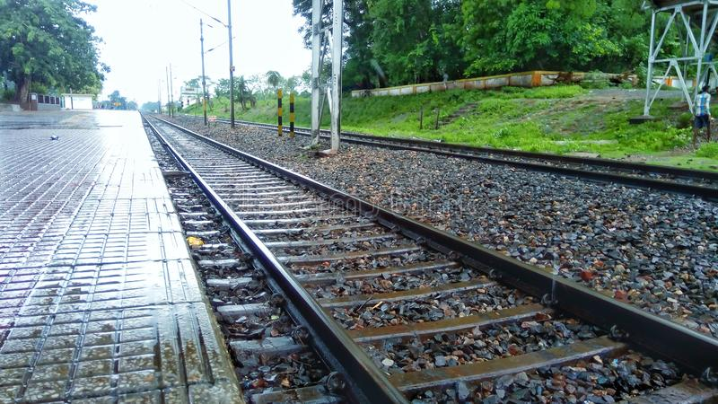 一个火车站 免版税库存图片