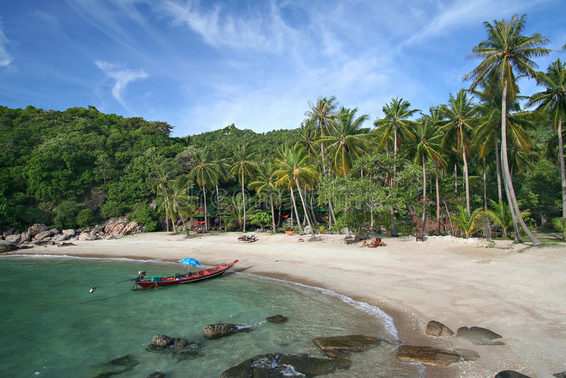 """一个热带海岛风景-酸值陶海岛†""""泰国 免版税库存图片"""