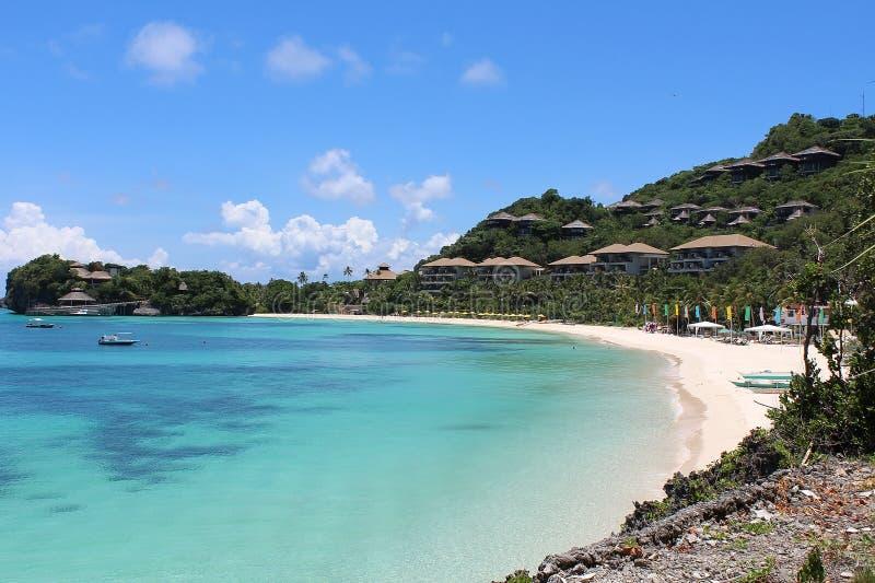 一个热带海滩。 免版税库存照片