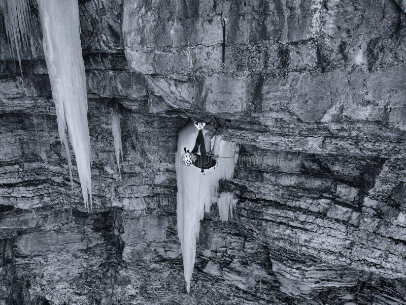 一个熟练的登山人在Vail,科罗拉多 免版税库存图片