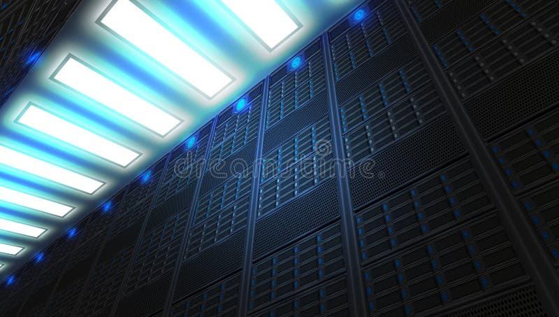 一个现代基于互联网的网络和互联网电信技术 库存例证
