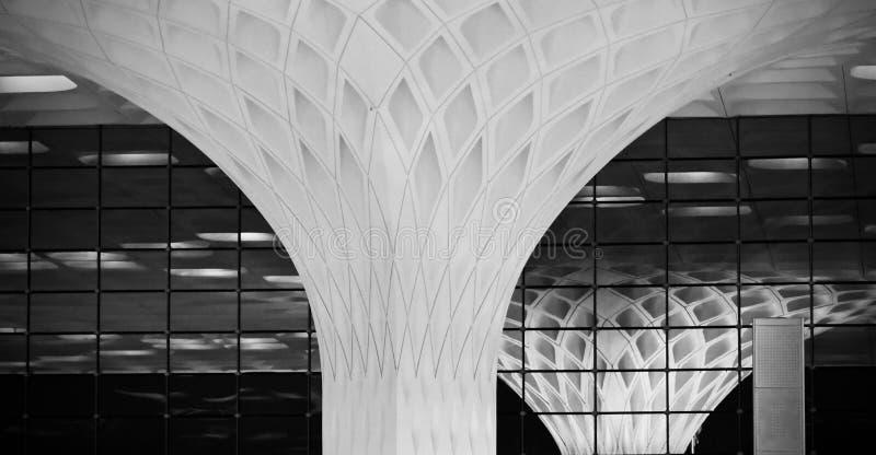一个现代大厦的美好的内部装饰元素 图库摄影