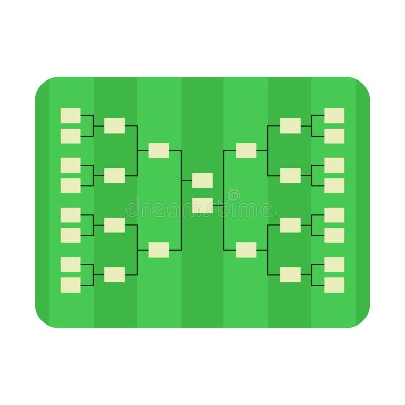 一个现实织地不很细草橄榄球/足球场 传染媒介EPS 10 文件包含透明度 库存例证