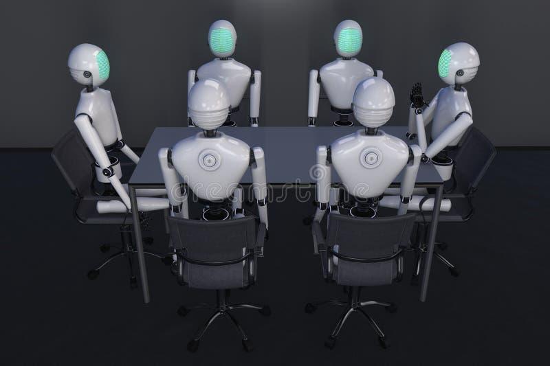 一个现代机器人 向量例证