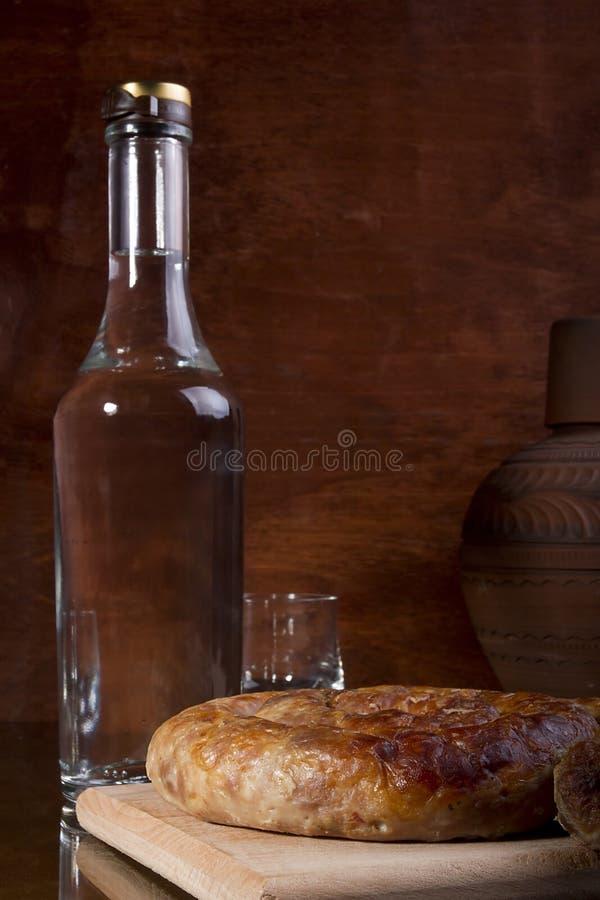 一个瓶伏特加酒 免版税库存照片
