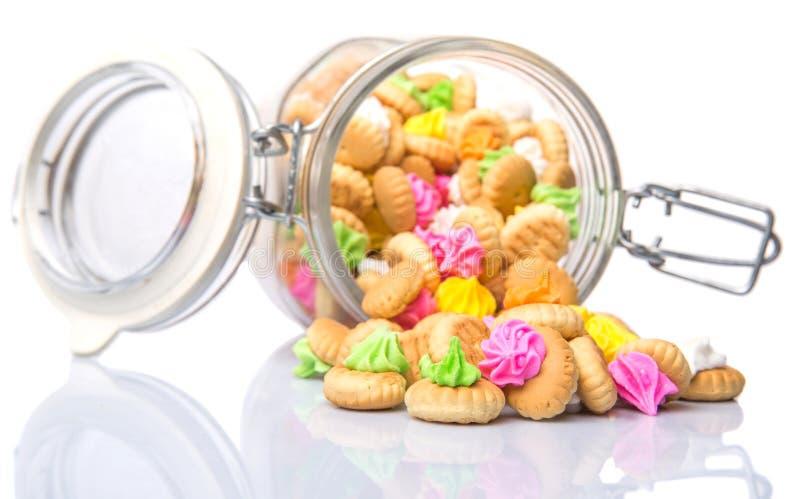 一个瓶子肚脐冰Jem饼干VII 免版税库存图片
