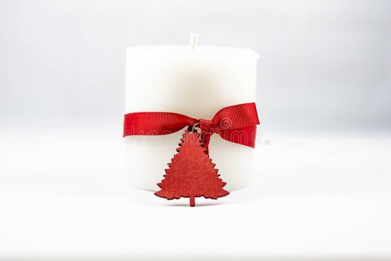 一个白色蜡烛的图象 库存图片