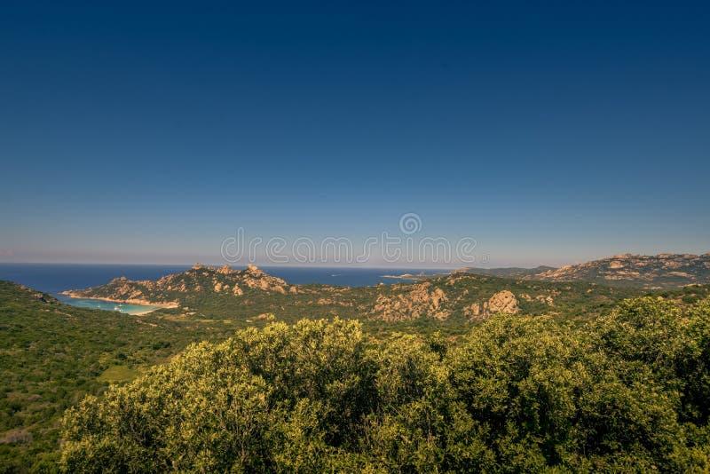 一个看法从上面在巨大的海岸线 免版税库存图片