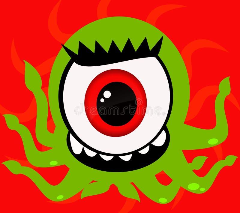 一个眼睛妖怪 免版税图库摄影