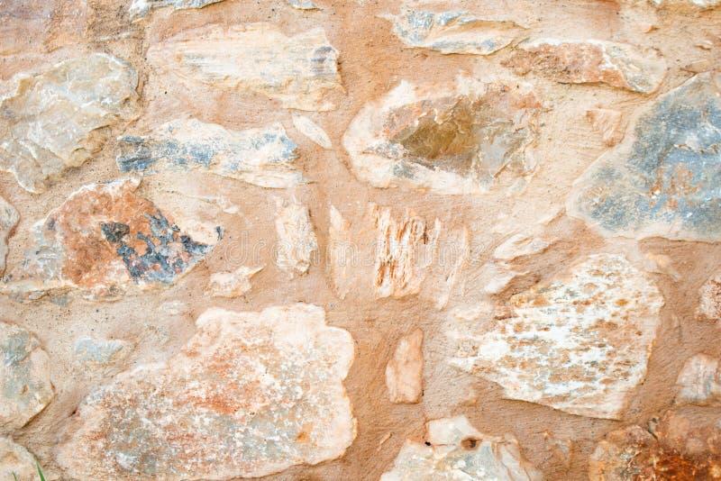 一个石墙的纹理 老城堡石墙纹理背景 Briks石头和墙壁纹理 库存照片