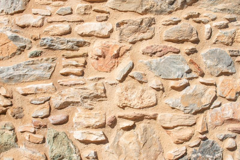 一个石墙的纹理 老城堡石墙纹理背景 Briks石头和墙壁纹理 免版税库存照片