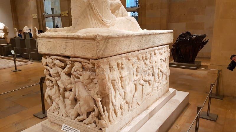 一个石棺在贝鲁特国家博物馆  贝鲁特,黎巴嫩 库存图片
