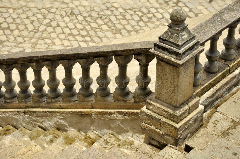 一个石楼梯的细节,在Azogues,厄瓜多尔 库存照片
