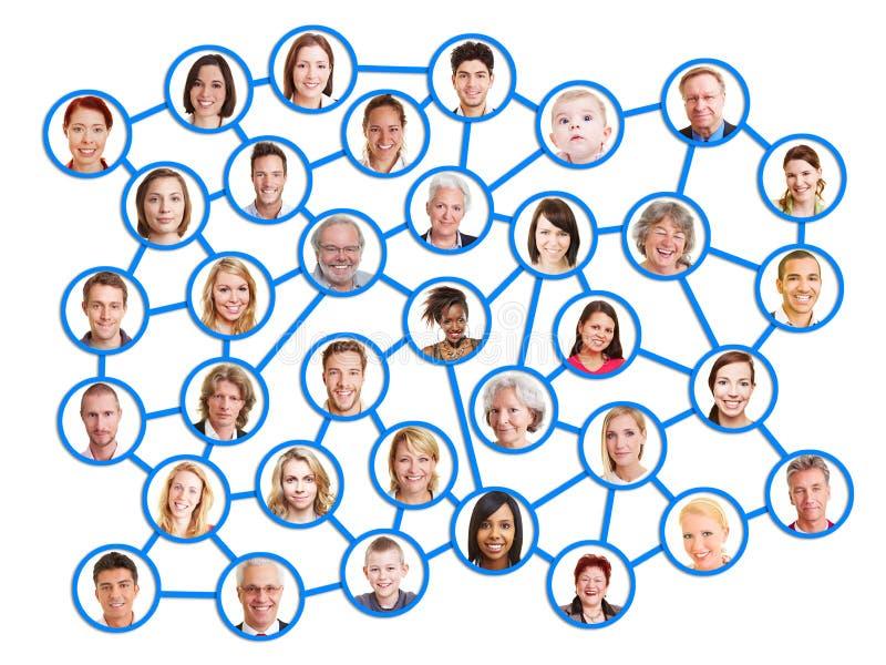 一个社会网络的人们 免版税库存照片