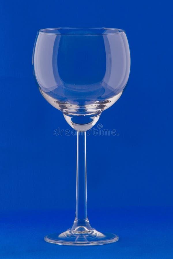 一个空的葡萄酒杯 图库摄影