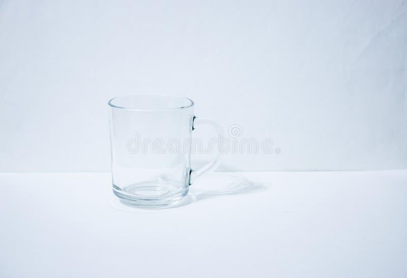 一个空的玻璃烧杯 免版税库存图片