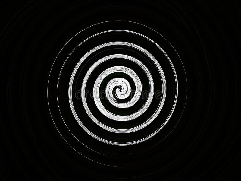 一个简单的白色螺旋 库存照片
