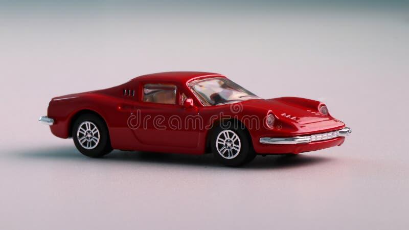一个红色汽车玩具 库存照片