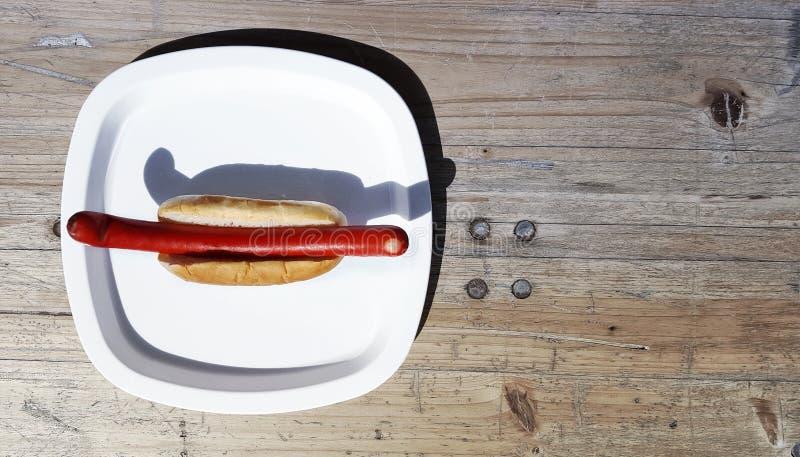 一个红色香肠 免版税库存照片