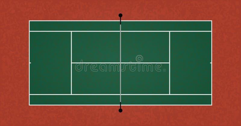 一个织地不很细现实网球场例证 传染媒介EPS 10 向量例证