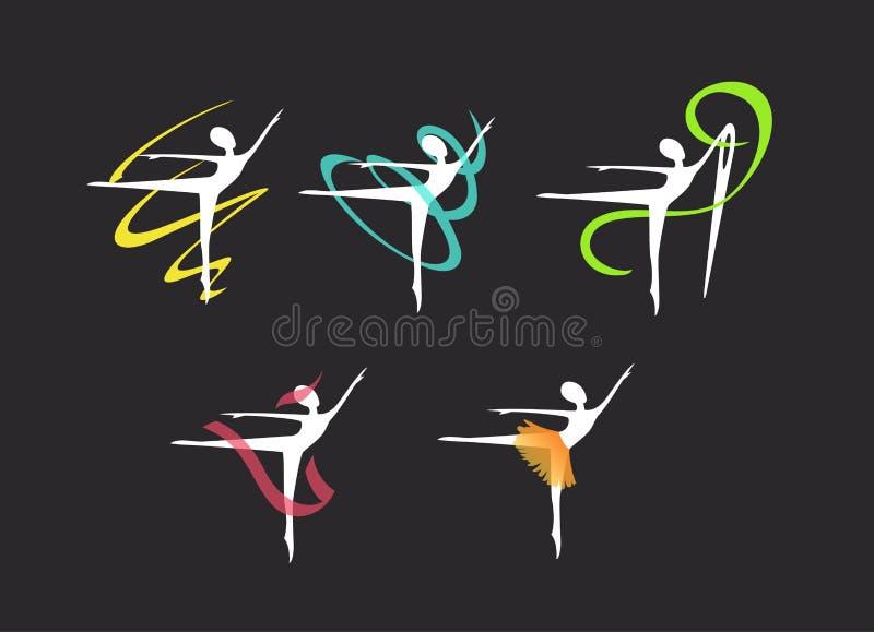 一个缝合的演播室的商标,芭蕾舞女演员的礼服 免版税库存照片