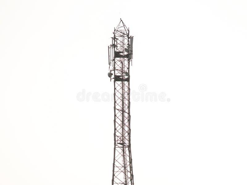 一个网络塔有白色背景 库存照片