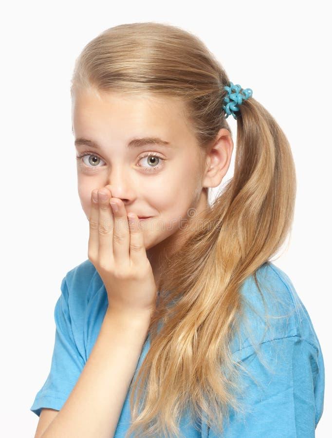 一个美丽的女孩的纵向 免版税库存照片