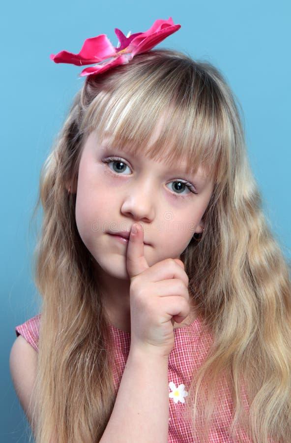 一个美丽的女孩的画象。 免版税库存图片