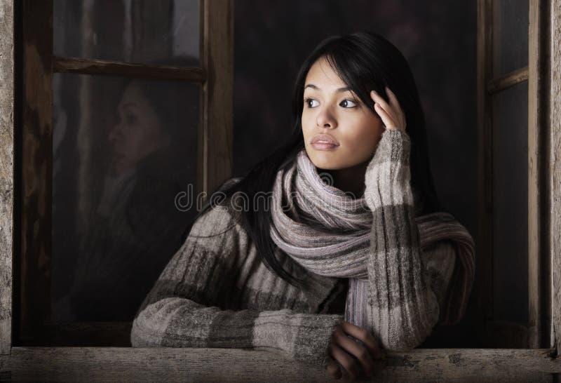 一个美丽的女孩的画象 免版税库存图片