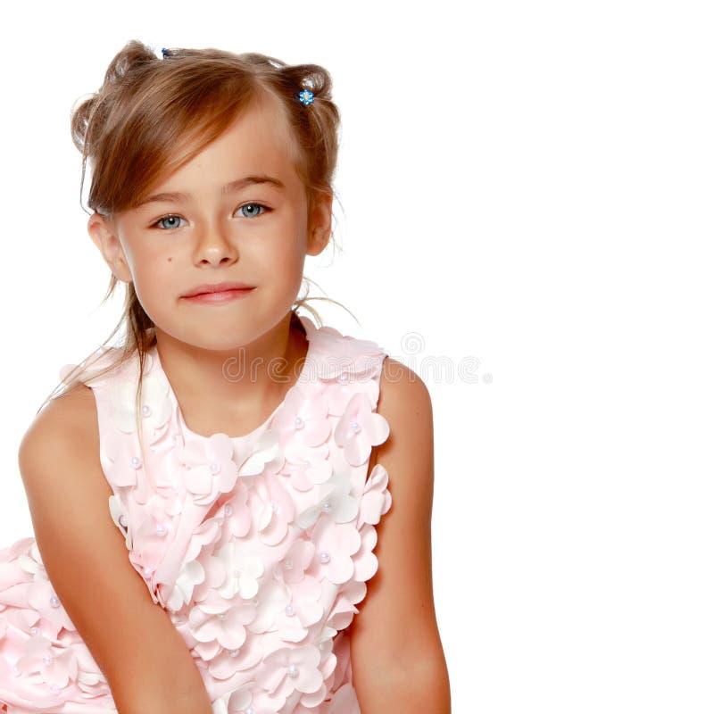 一个美丽的小女孩的画象 图库摄影