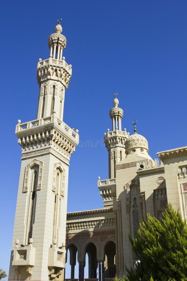 一个美丽的清真寺在萨伊德北部埃及 库存图片