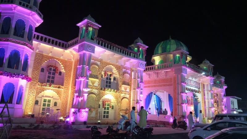 一个美丽的色的宫殿 免版税图库摄影