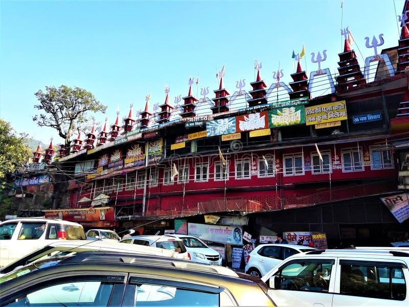 一个美丽的阁下湿婆Temple在印度 免版税库存图片