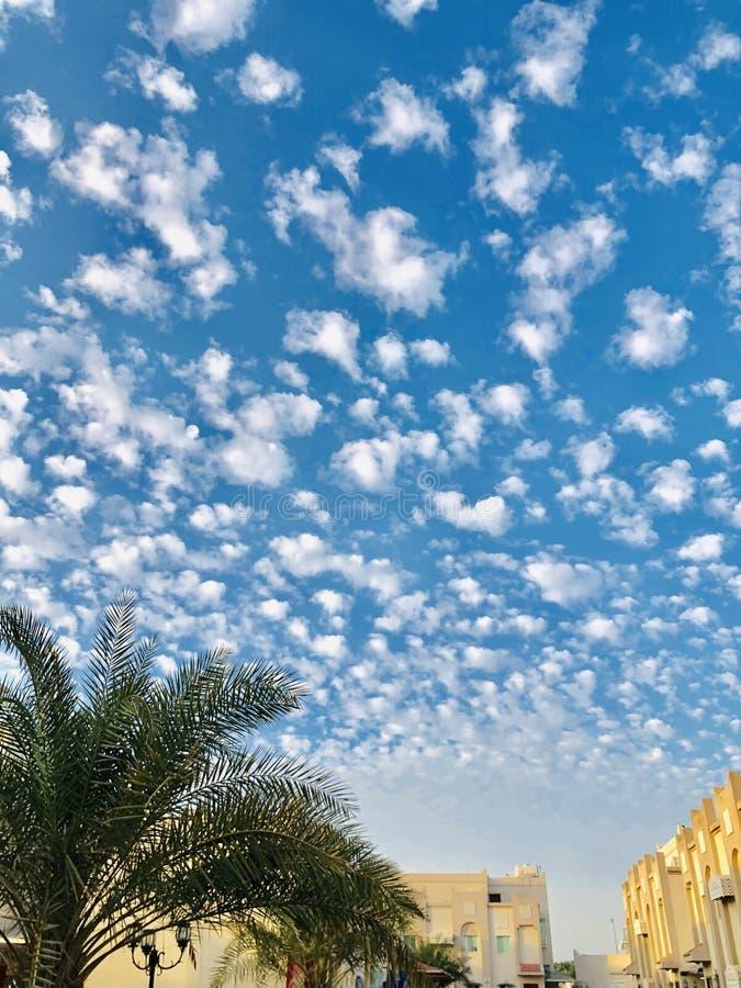 一个美好的天空样式美妙地alined云彩的样式 库存照片
