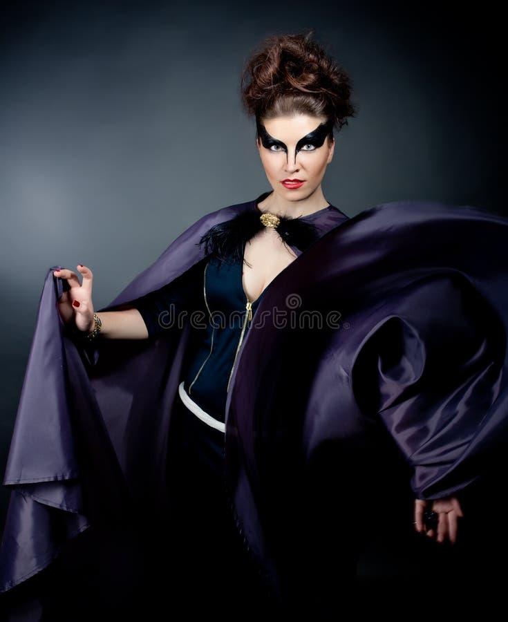 一个美好的女性模型的画象 库存照片