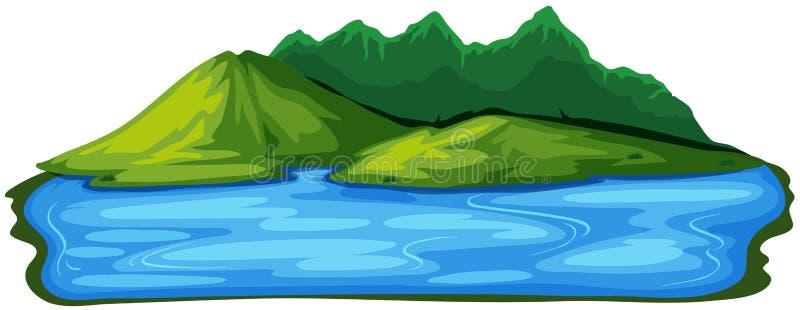 一个美好的自然海岛风景 向量例证