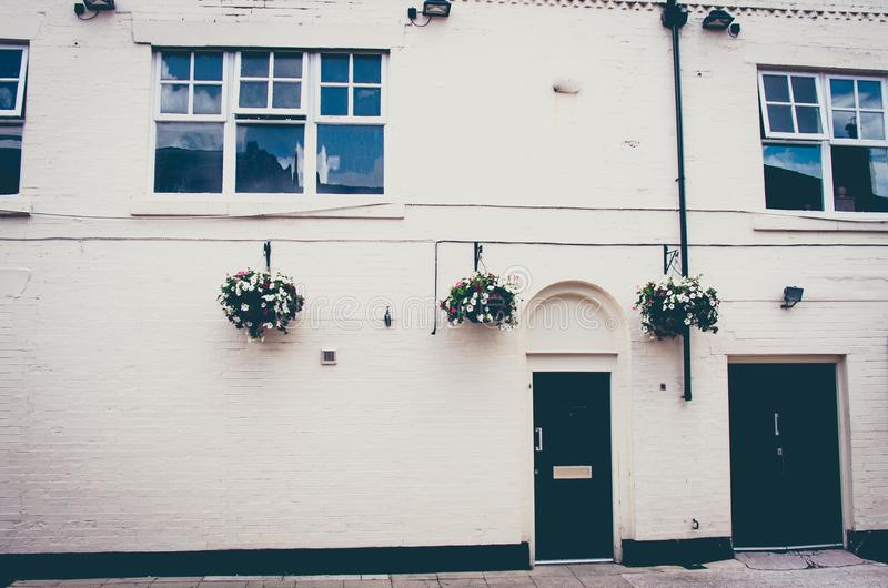 一个美好的英王乔治一世至三世时期时代英国城内住宅的外部 免版税库存图片