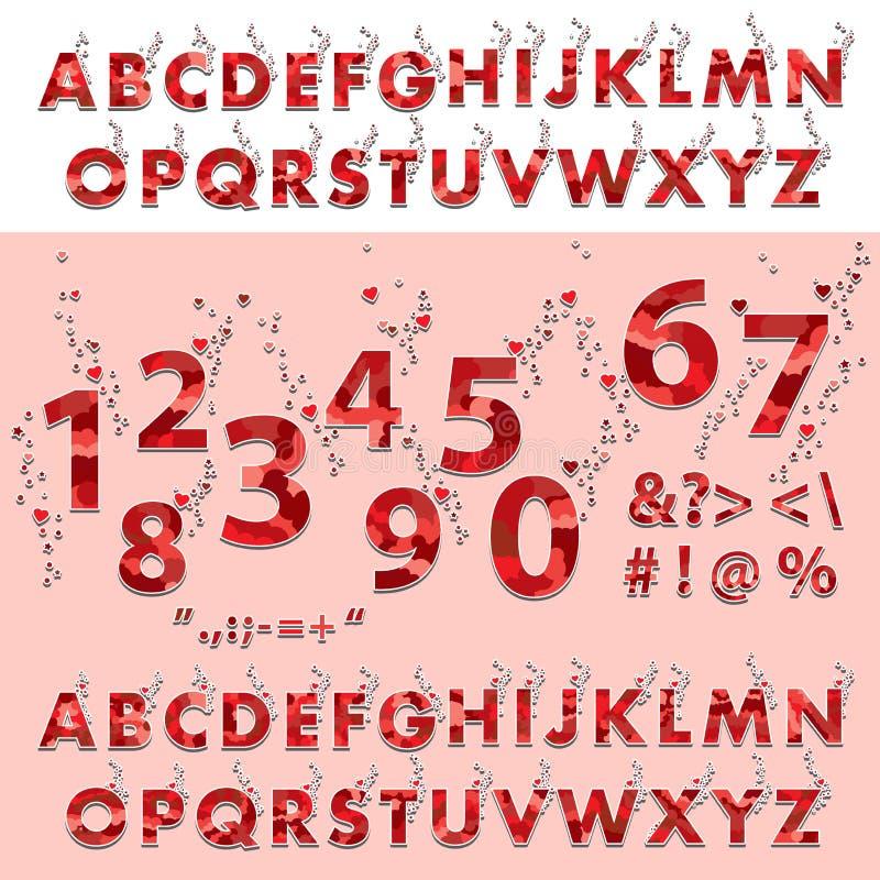 字体和字母表,数字,标点符号 向量例证 - 插画 包括有 海报, 艺术图片
