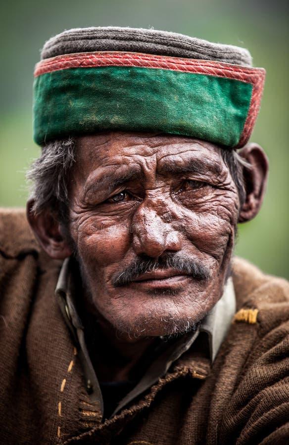 一个老人的纵向 免版税库存图片
