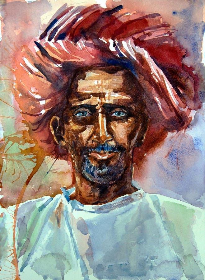 Download 一个老人的水彩画象头巾的 库存例证. 插画 包括有 图画, 全能, 水彩, 文化, 头巾, arabel - 72350514