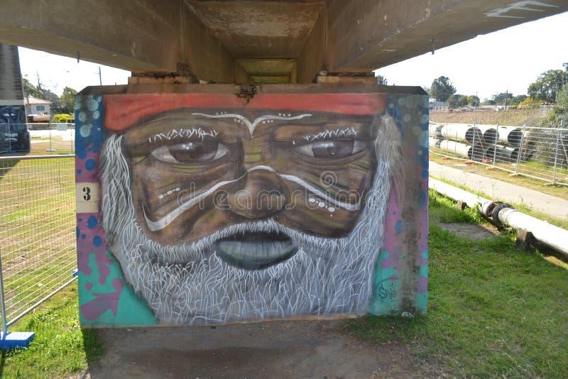 一个老原史人的街道画 向量例证