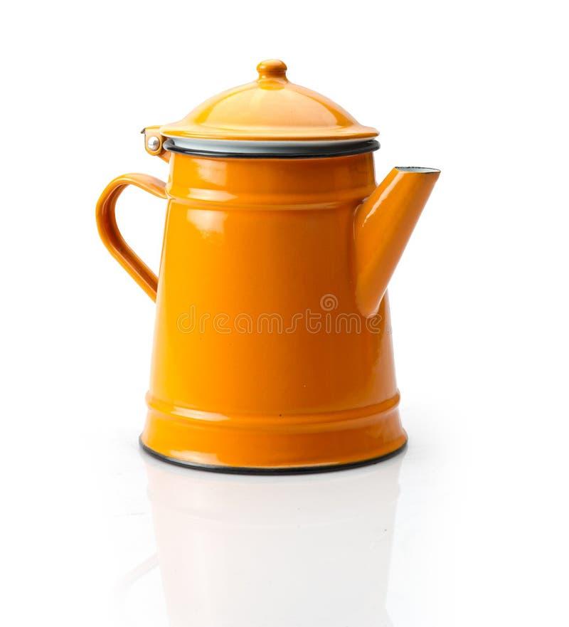 一个老古色古香的咖啡罐的充分的身体 免版税图库摄影