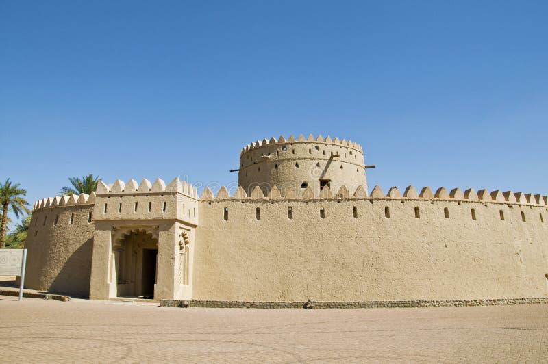 一个老堡垒,阿拉伯联合酋长国 库存图片