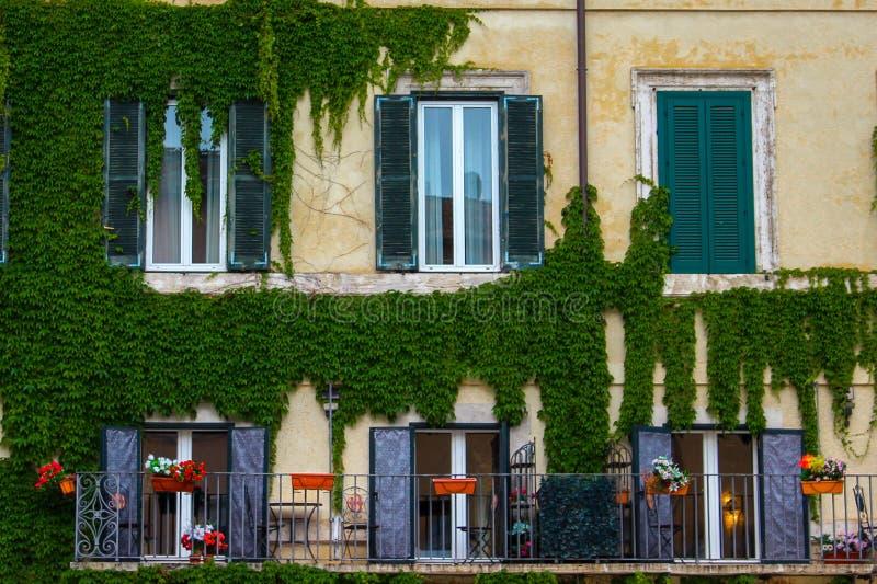 一个老大厦的前面门面 免版税库存图片