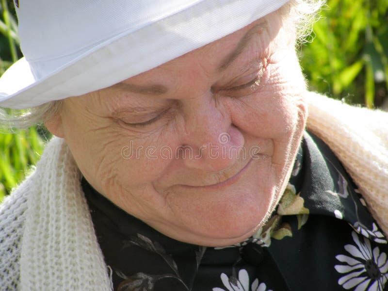 一个老妇人的画象 库存图片