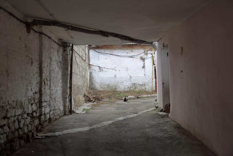 一个老房子的后院 库存图片
