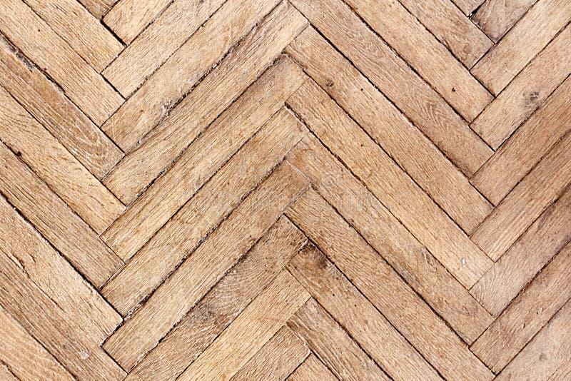 一个老木条地板板特写镜头的纹理 库存照片
